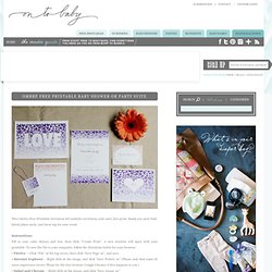 Ombré Free Printable Baby Shower or Party Suite - On to Baby