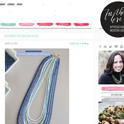 DIY Ombre Seed Bead Necklace - For the Love of... For the Love of…