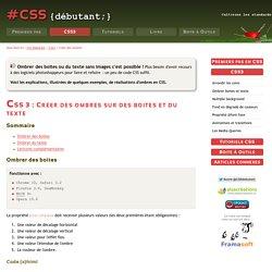 CSS3 : Ombrer boites et texte grâce à box- et letter-shadow - CSS Débutant