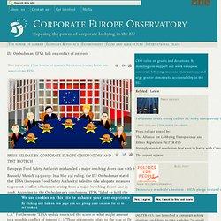 EU Ombudsman: EFSA fails on conflict of interests