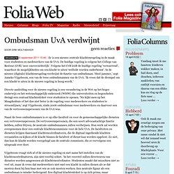 Ombudsman UvA verdwijnt