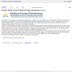 Join the Alumni Group of Omdayal Group of Institutions - lessons & tutoring