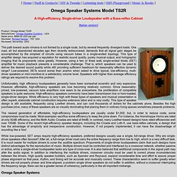 Omega Speakers Systems Model TS2R