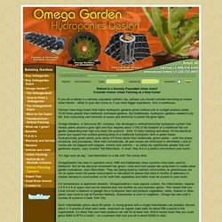 OmegaGarden.com - Indoor Urban Farming as a New Career