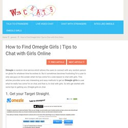 Tips to Chat with Girls Online – W3Chat
