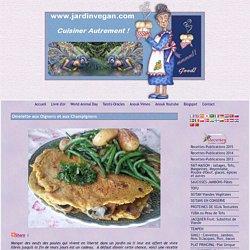 Omelette aux Oignons et aux Champignons