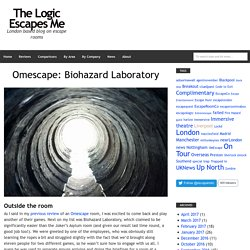 Biohazard Laboratory Give You Real Escape
