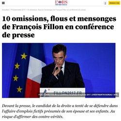 10 omissions, flous et mensonges de François Fillon en conférence de presse