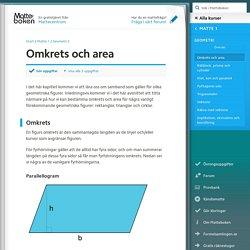 Omkrets och area (Matte 1, Geometri)