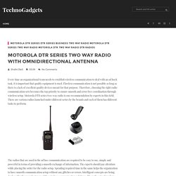 Motorola DTR series two way radio with omnidirectional antenna