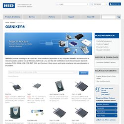 Smart Card Readers for Logical Access Control - HID Global - OMNIKEY Readers