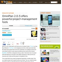 OmniPlan 2.0.3 Productivity Software Review