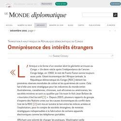 Omniprésence des intérêts étrangers en RDC, par Sabine Cessou (Le Monde diplomatique, décembre 2016)