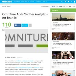 Omniture Adds Twitter Analytics for Brands