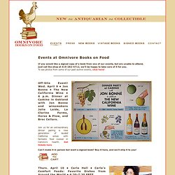 Omnivore Books on Food · Events