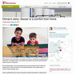 Omran's story: Soccer is a comfort from home