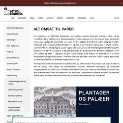 ALT OMSAT TIL VARER - Det Kongelige Bibliotek