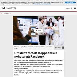 Omstritt försök stoppa falska nyheter på Facebook