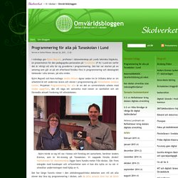Programmering för alla på Tunaskolan i Lund