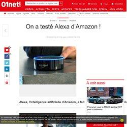 On a testé Alexa d'Amazon !