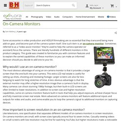On-Camera Monitors