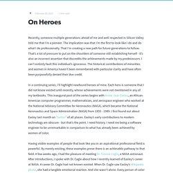 On Heroes - Ann Easley
