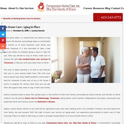 On Home Care: Aging in Place