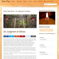 On Judgment of Others