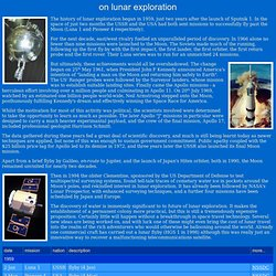 On Lunar Exporation