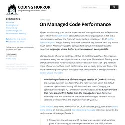 On Managed Code Performance