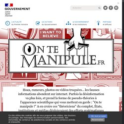 On te manipule - Gouvernement.fr