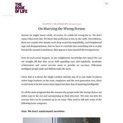 On Marrying the Wrong Person