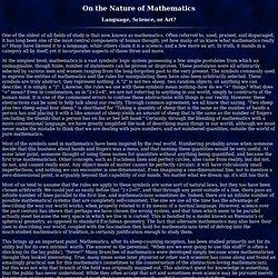 On the Nature of Mathematics