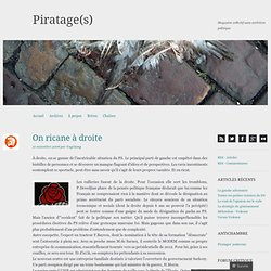 On ricane à droite « Piratage(s)