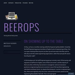 On Showing Up to the Table – beerops