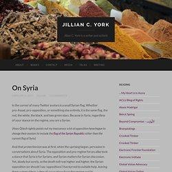 On Syria
