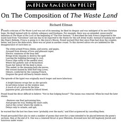 "On The Composition of ""The Waste Land"""