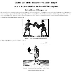 On the Use of the Square Target