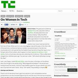 On Women In Tech