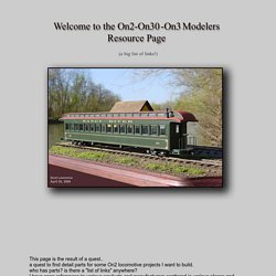 On2-On3-On30 Modelers Resource Page