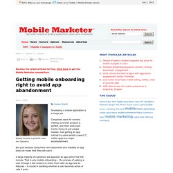 Getting mobile onboarding right to avoid app abandonment