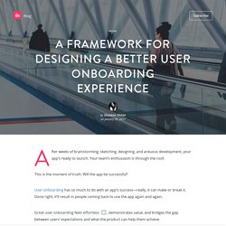 A framework for designing a better user onboarding experience