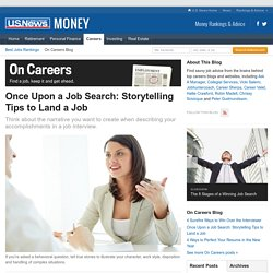 Once Upon a Job Search: Storytelling Tips to Land a Job