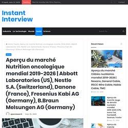 Abbott Laboratories (US), Nestle S.A. (Switzerland), Danone (France), Fresenius Kabi AG (Germany), B.Braun Melsungen AG (Germany) – Instant Interview