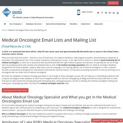 Medical Oncologist Email List