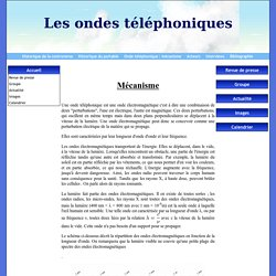 Onde téléphonique : mécanisme