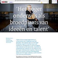 'Het hoger onderwijs als broedplaats van ideeën en talent'