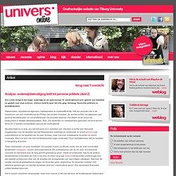 univers: Analyse2) onderwijsbekostiging leidt tot perverse prikkels Malini Witlox