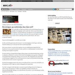 Onderwijsblog » Bezuinigen op onderwijs, hoe dan wel?