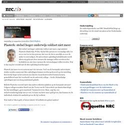 Onderwijsblog » Plasterk: stelsel hoger onderwijs voldoet niet meer